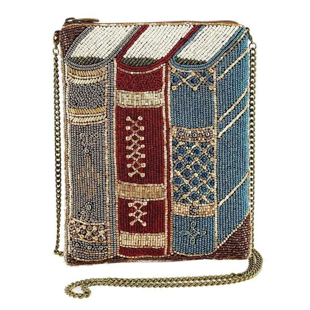 1c2338120 MARY FRANCES Best Seller Beaded Books Mini Crossbody Handbag ...
