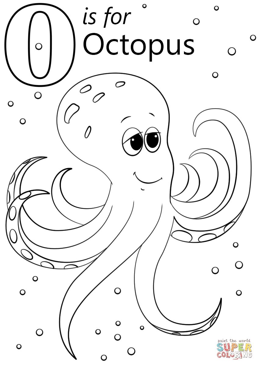 Letter O Coloring Pages For Preschoolers Printable