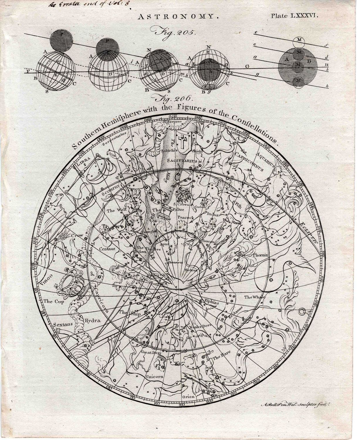 Astrological Map Celestial Map Astronomy Constellation Map
