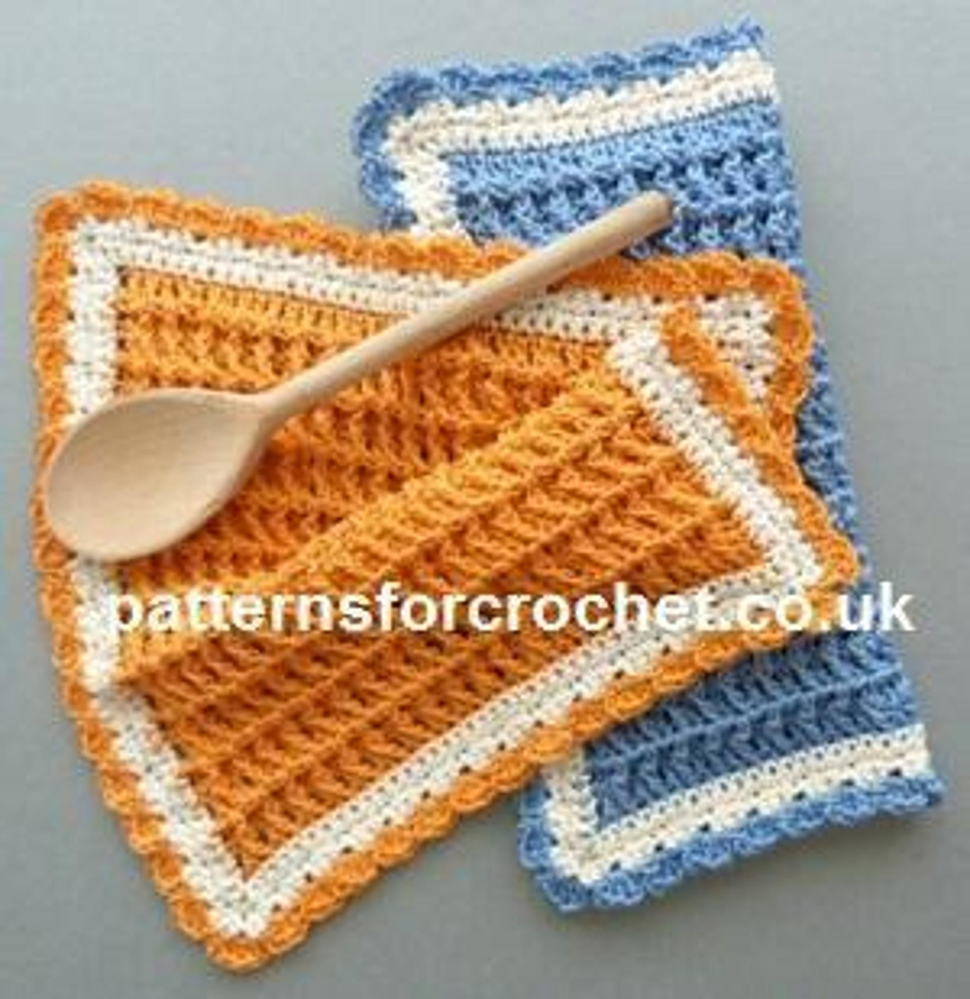 Pfc179-Cotton Dishcloth Crochet Pattern