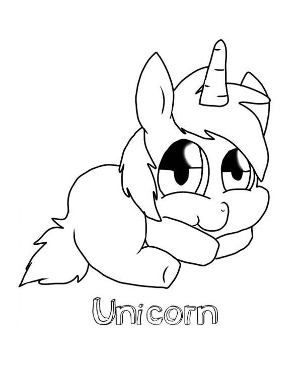 Cute Baby Unicorn Coloring Pages - DukaBooks | drawing ...