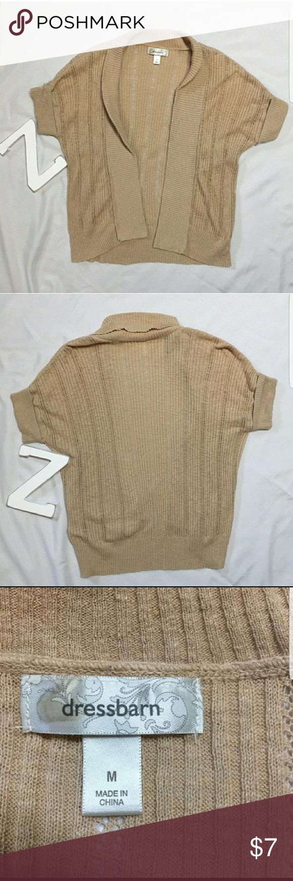 Dress Barn Tan Cardigan Shrug | Tan cardigan, Ponchos and Customer ...