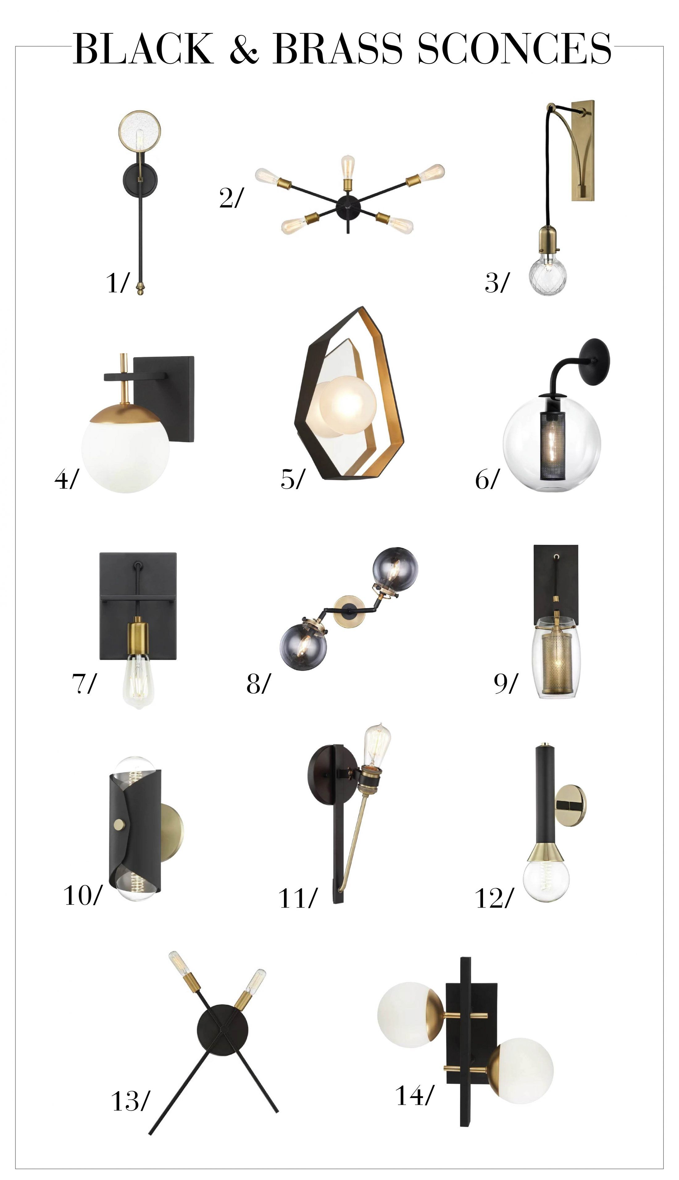 Photo of Beautiful Black and Brass Sconces | The Mom Edit