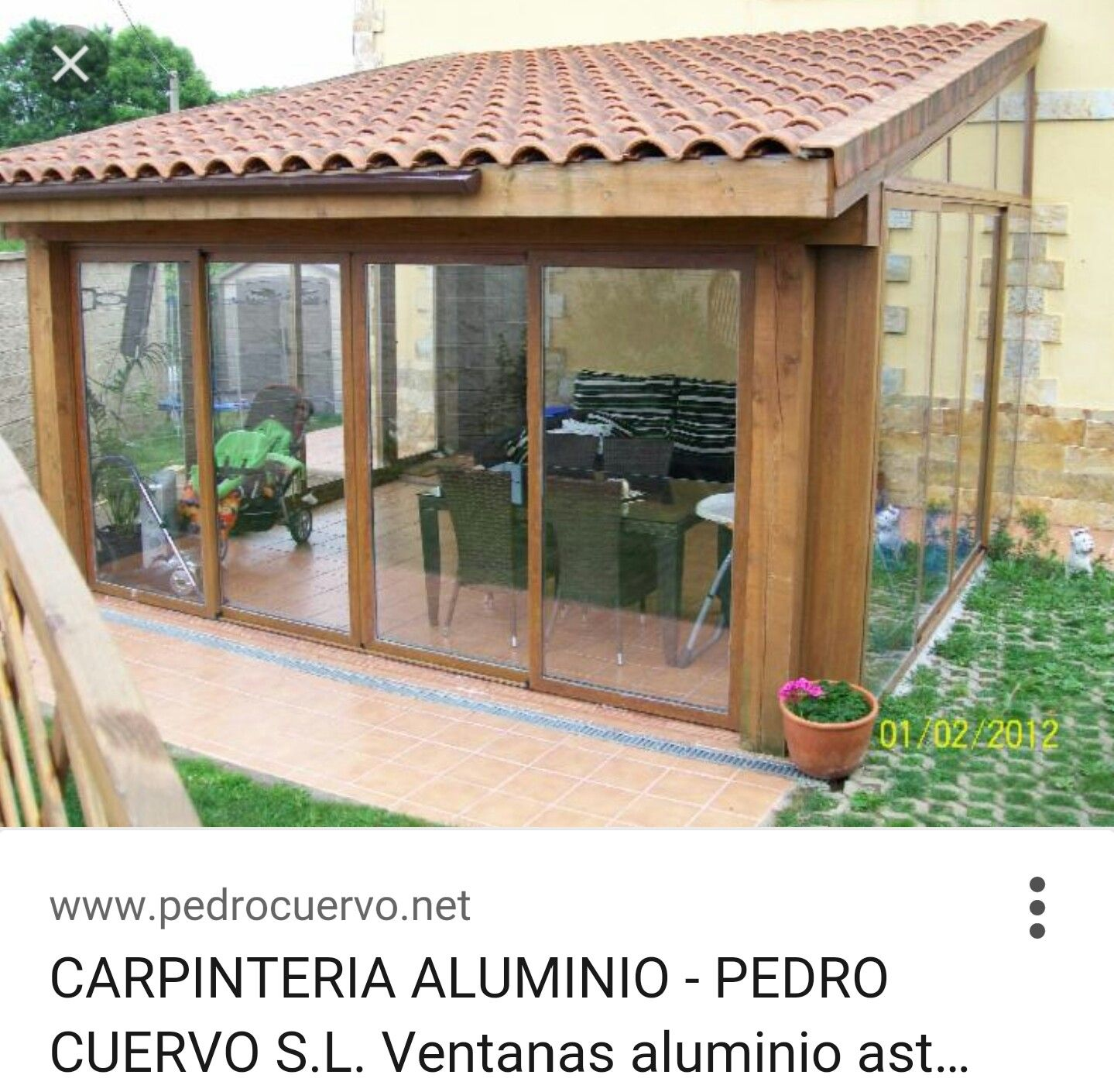 Cerramiento exterior deco pinterest terrazas jard n for Diseno de terrazas cerradas