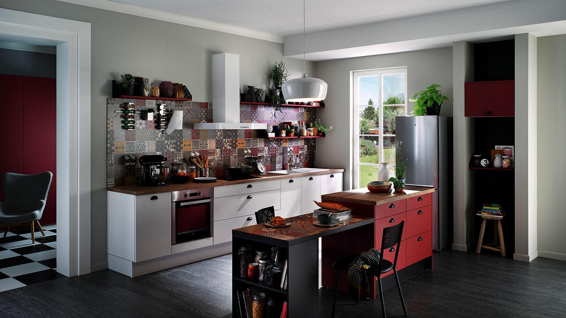 Cuisine Equipee Vega Prem 39 S Style Design Blanc
