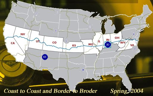Map Of Us Route 50 See the USA in your Chevrolet Travelogue | Road trip map, Cross