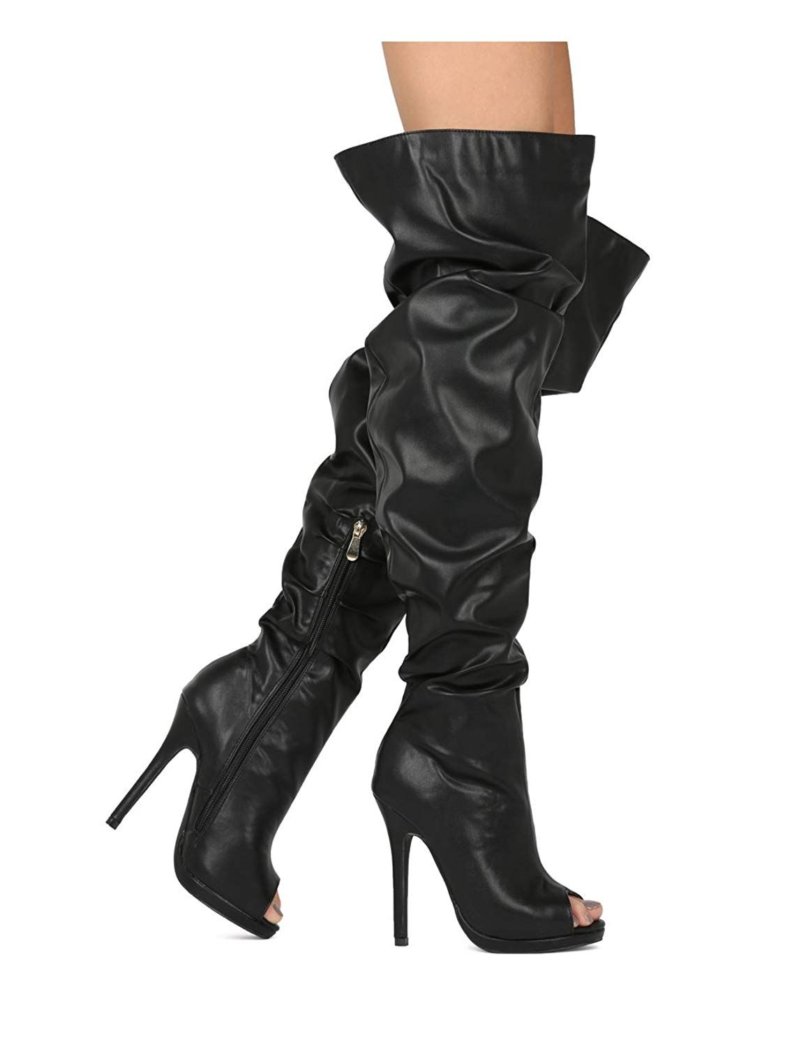 Women Over The Knee Peep Slouchy Stiletto Boot - Thigh High Cosplay Costume  Dressy Party - HE82 by Liliana Collection.Women's … | Boots, Stiletto boot,  Trendy shoes