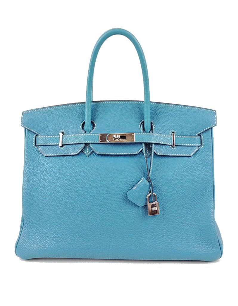 eef85525cb Hermes Birkin 35CM Togo Leather in Blue Jean. This is one of the hottest  colors of the 2016 season and it s available right here from former owner  Emily ...