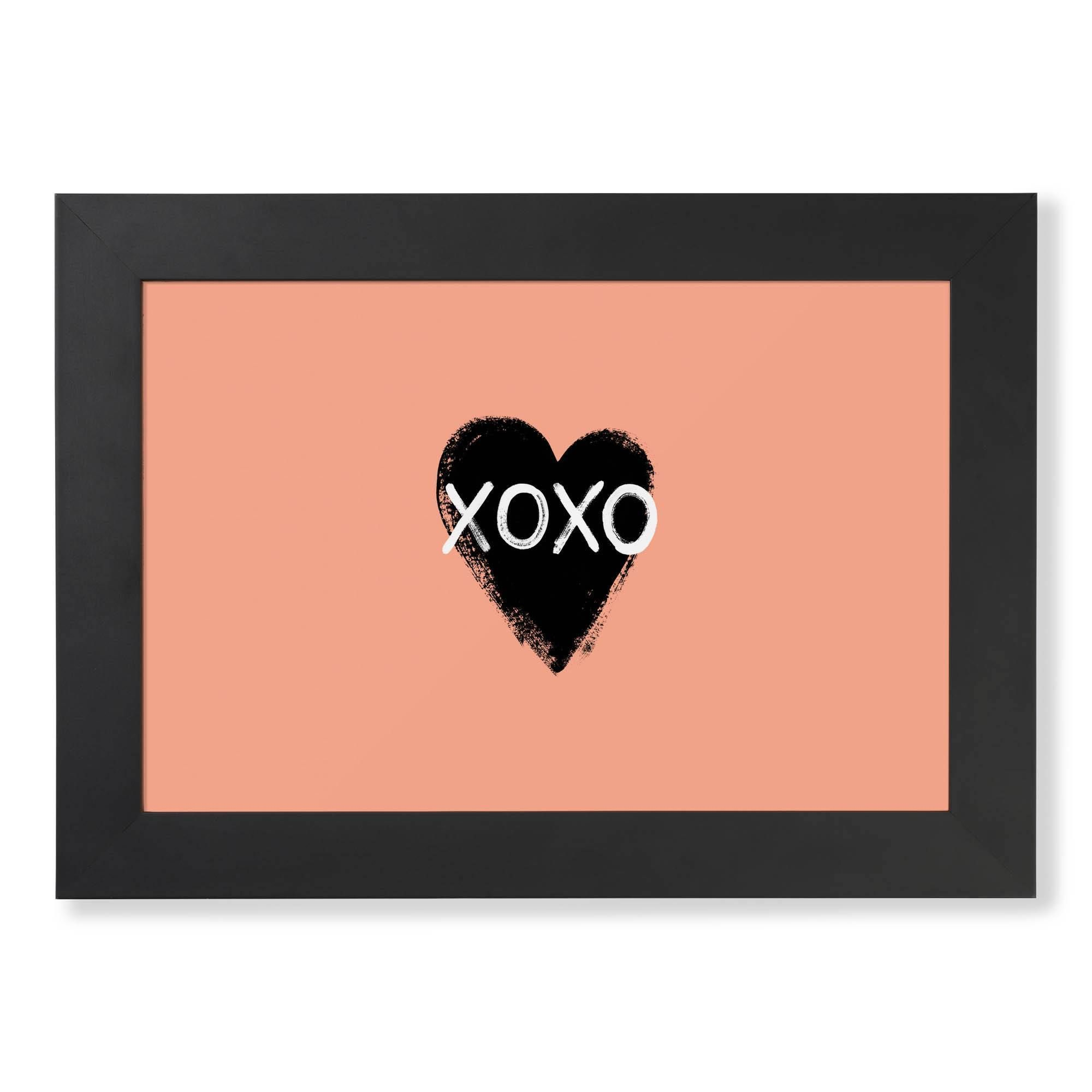 XOXO Forever-Black on Light Peach