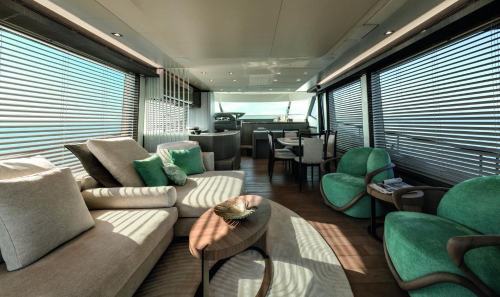 continues its voyage into interior yacht design