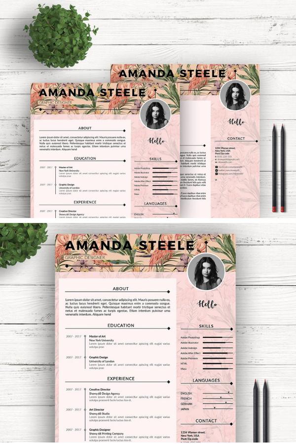 Flamingo Cv Resume Template N Cv Resume Template Resume Design Free Resume Design