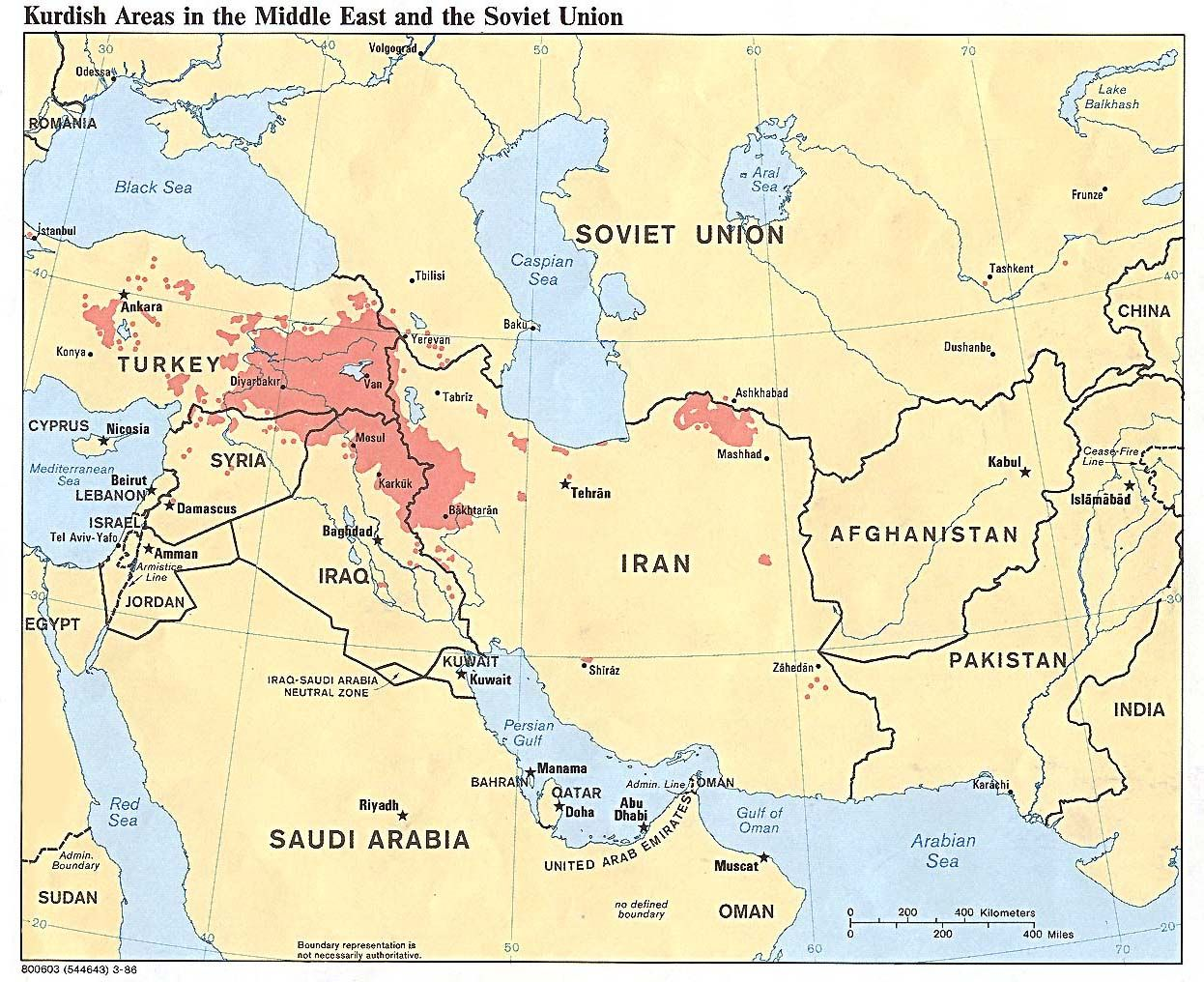 Map Of Middle East Continent Kurdish Areas in the Middle East and