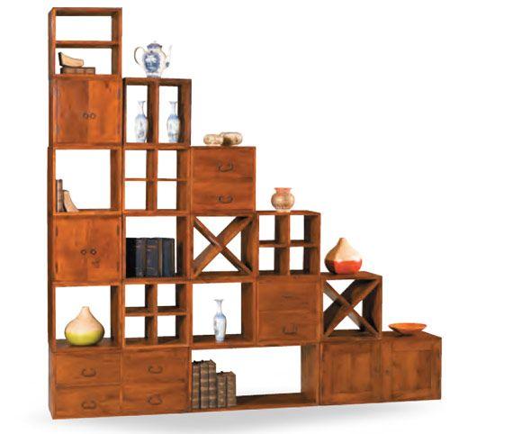 Libreria Cubi Componibili Cubi 40x40cm Rettangolare 80x40cm