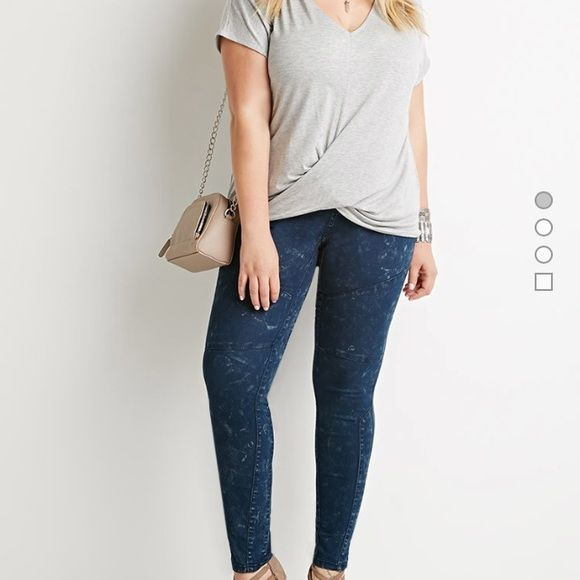 Plus Size Mineral Wash skinny jeans Plus Size Mineral Wash skinny jeans, almost feels like a jegging material but not so stretchy. This is a size 16 but unfortunately runs small that's why I'm listing as 14. Brand new with tags Forever 21 Jeans Skinny