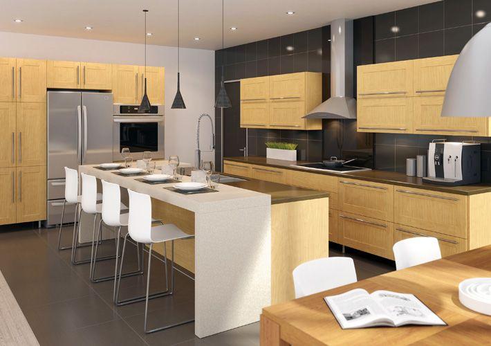 Eurostyle Contemporary Kitchen in Off-White | Kitchen ideas | Pinterest