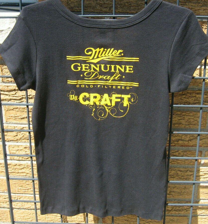 (M) Ladies Miller Genuine Draft lite Beer T Shirt BELLA
