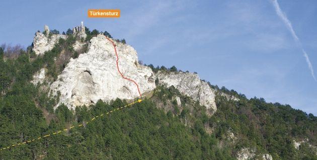 Klettersteig Niederösterreich : Der ungefähre routenverlauf des pittentaler klettersteiges