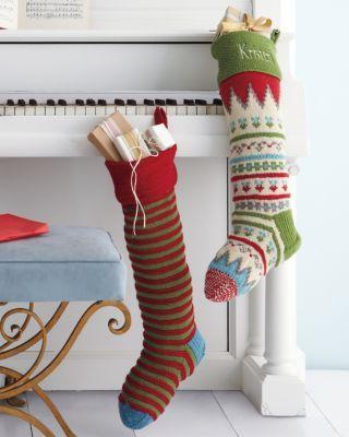 White Piano & Garnet Hill Fair Isle Woolen Stocking | Holidays ...