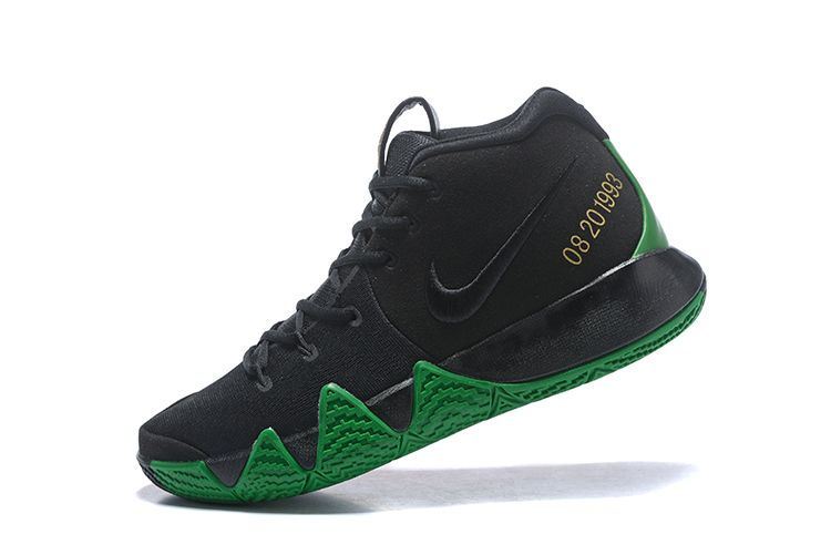"""2018 Nike Kyrie 4 """"BHM"""" Black Green Red Metallic Gold For Sale  6c753a3bea3f"""