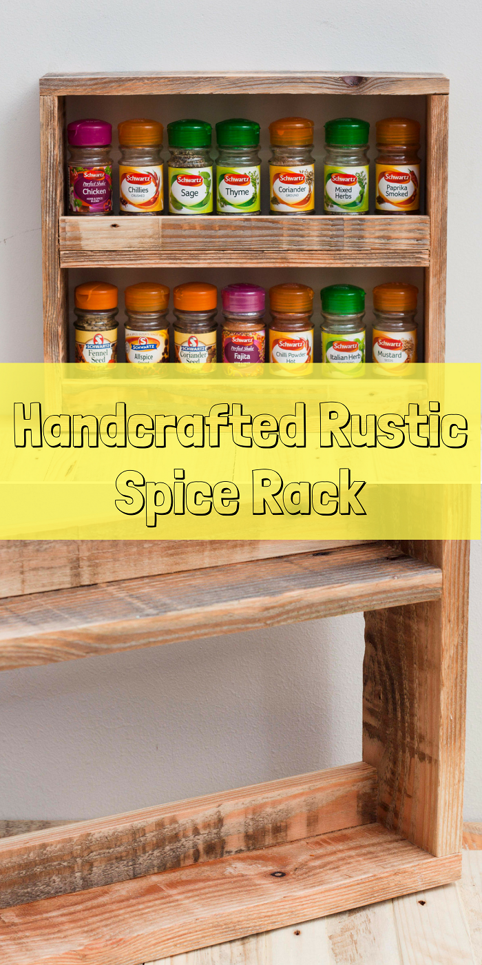 A Wonderfully Handcrafted Rustic Spice Rack. Made to order using ...