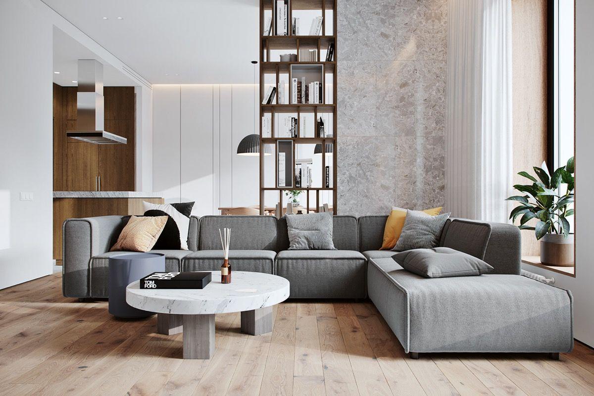 Casual Contemporary Living Room - Cozy Contemporary Family ...