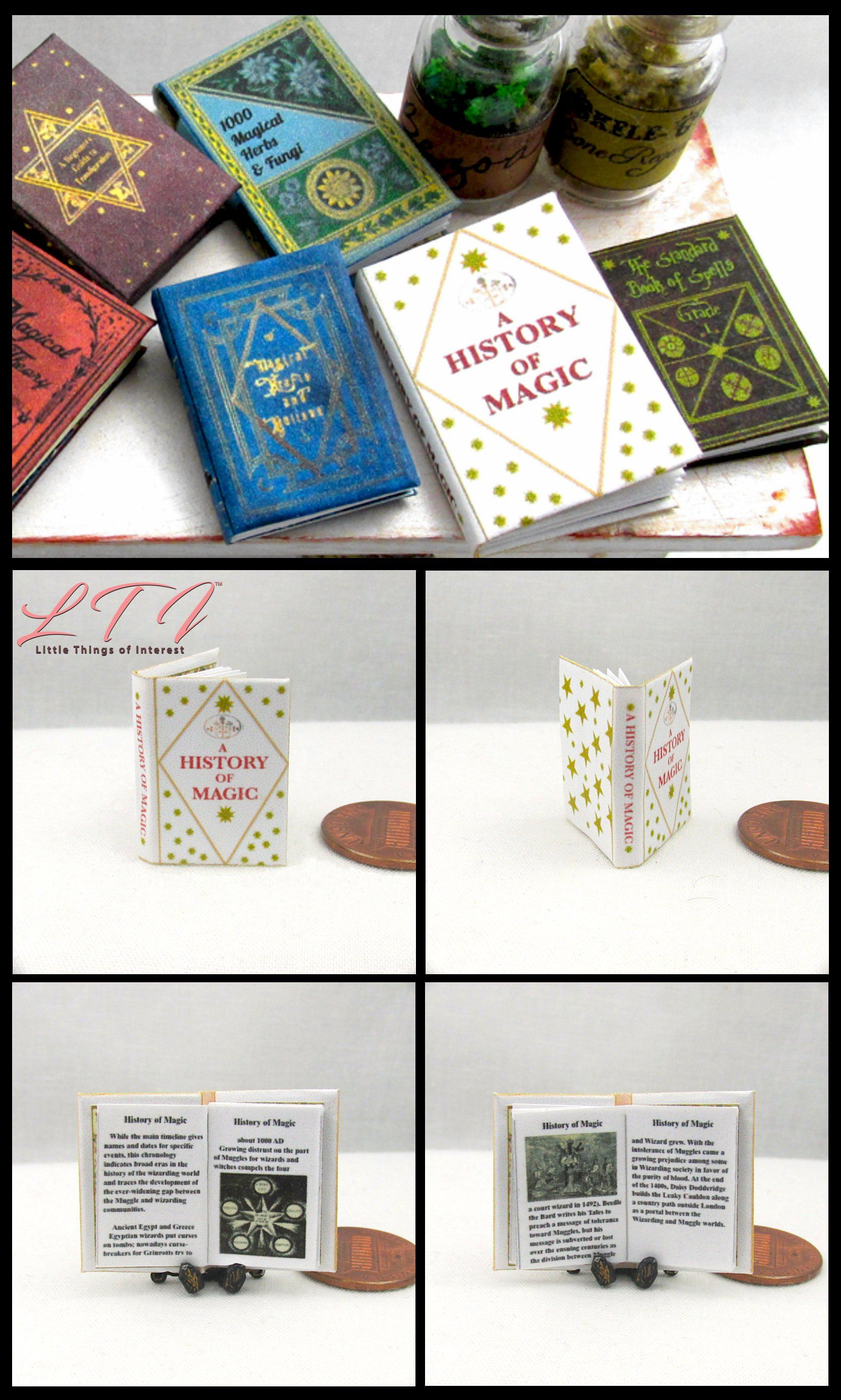 BOOK OF DRAGONS Illustrated Miniature Book Dollhouse 1:12 Scale Potter Magic