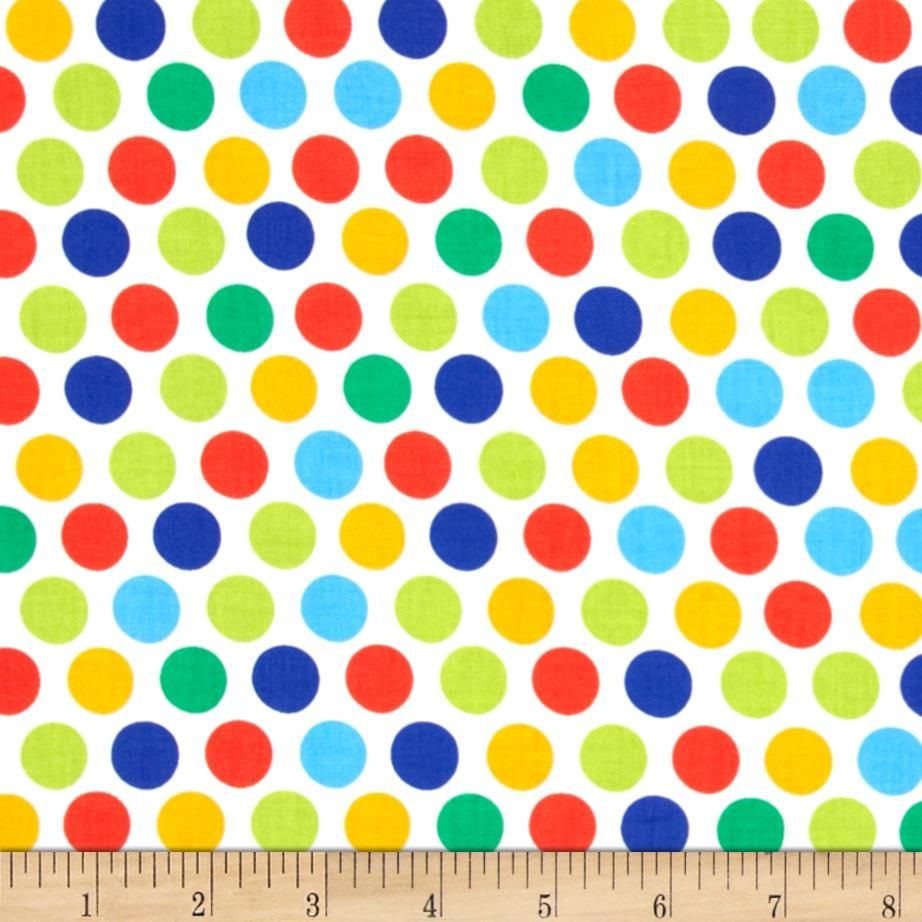 michael miller diddly dot retro primary from fabricdotcom