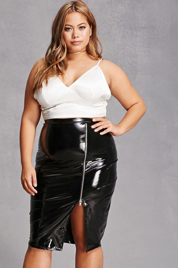 0a4358d412 FOREVER 21+ Plus Size Faux Leather Skirt | Curvy Leather, Latex ...