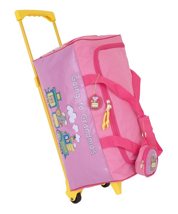 This Pink 'Going to Grandma's' Wheeled Duffel by Going to Grandma's is perfect! #zulilyfinds