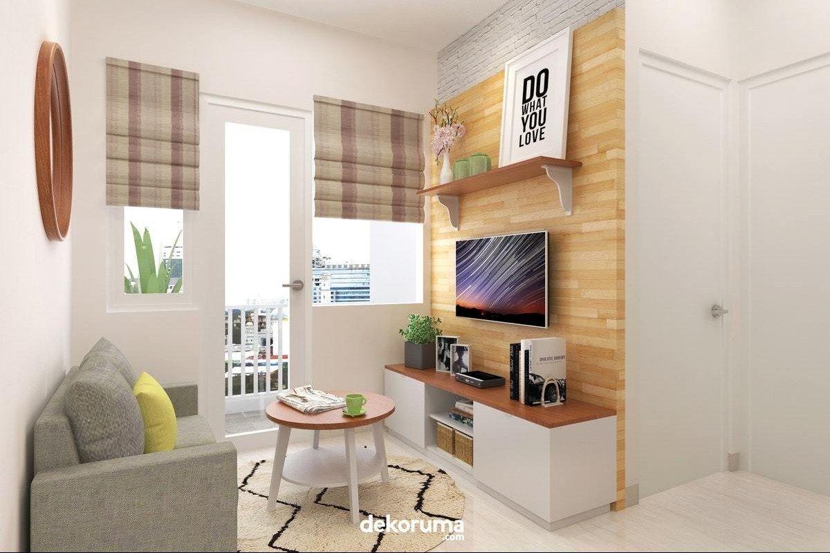 Inspirasi Penataan Ruang Tv Minimalis Kreatif Di 2020 Desain Ruang Tamu Desain Desain Interior