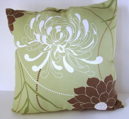Throw Pillows For Sage Green Couch : Complementary Colors To Sage Green Outdoor pillow - Green, white, brown craftsfromtheheart ...