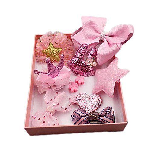 10Pcs//set Baby Girl Hair Clip Bow Flower Barrettes Party Kids Hairpins Headwear