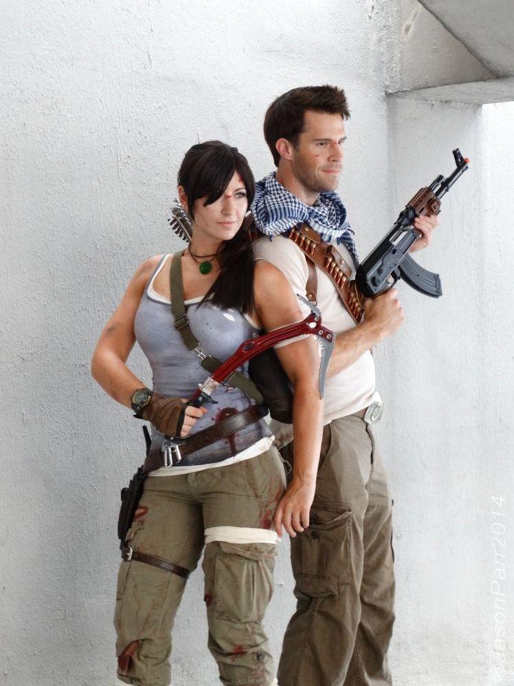 baeef7324 Lara Croft, Tomb Raider and Nathan Drake, Uncharted cosplay ...