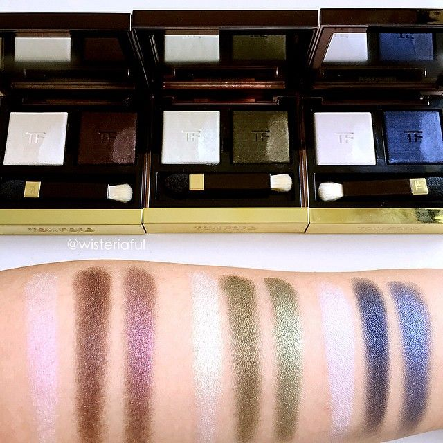d741f7cea1538 Swatches of Tom Ford eyeshadow duo- 01 Ripe Plum