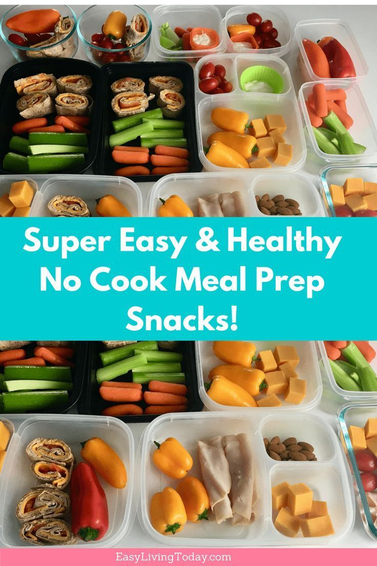 Super Easy No Cook Healthy Snacks for Meal Prep images