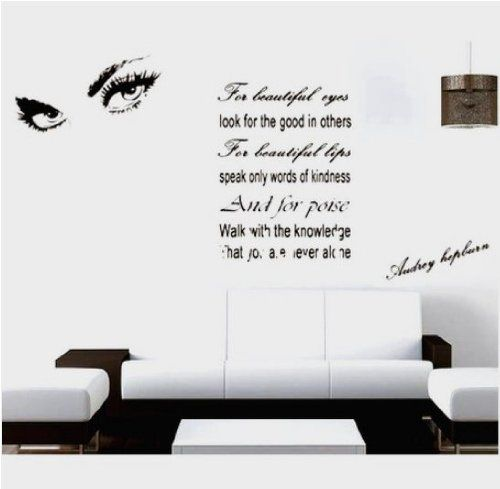 Large Audrey Hepburns Eyes DIY Quote Vinyl Decal Wall Stickers - Wall decals eyes