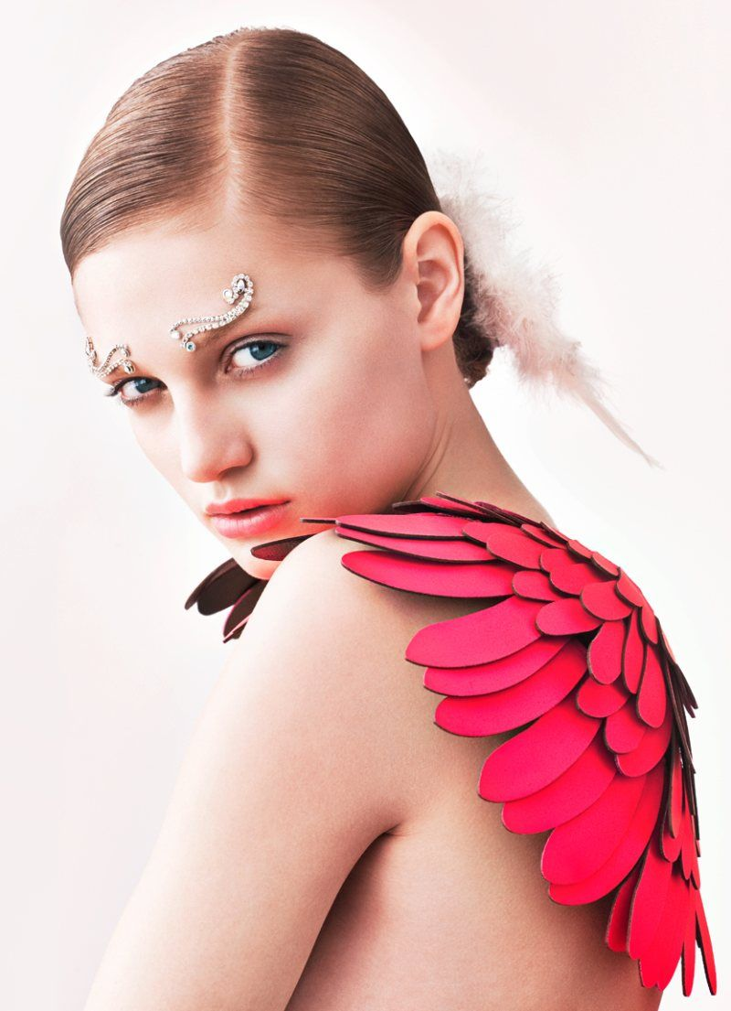 pink leather wings