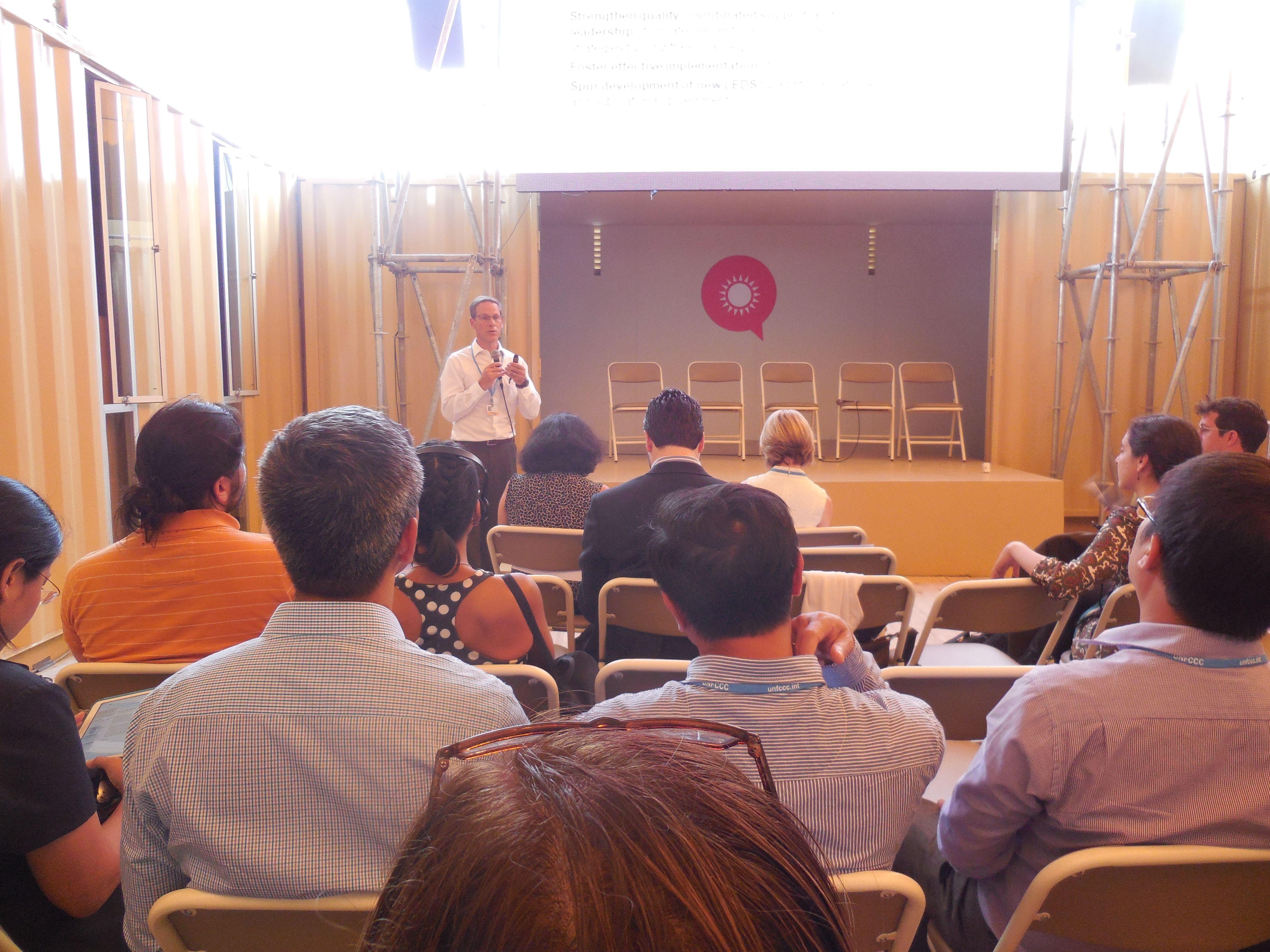 Conferencia de LEDS GP en Voces por el Clima.
