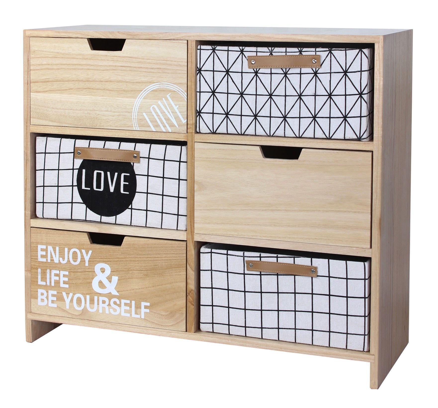 Mueble De Madera Estilo N Rdico Con Cajones Estampados Con Motivos  # Muebles Geometricos