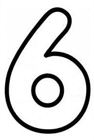 6 Rakami Okul Oncesi Calisma Cizelgeleri Okul Oncesi Ve Matematik