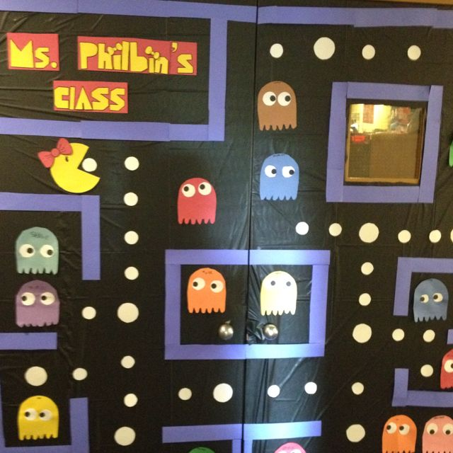 amazing Pac Man Door Decoration Part - 9: Miss Pacman door decoration