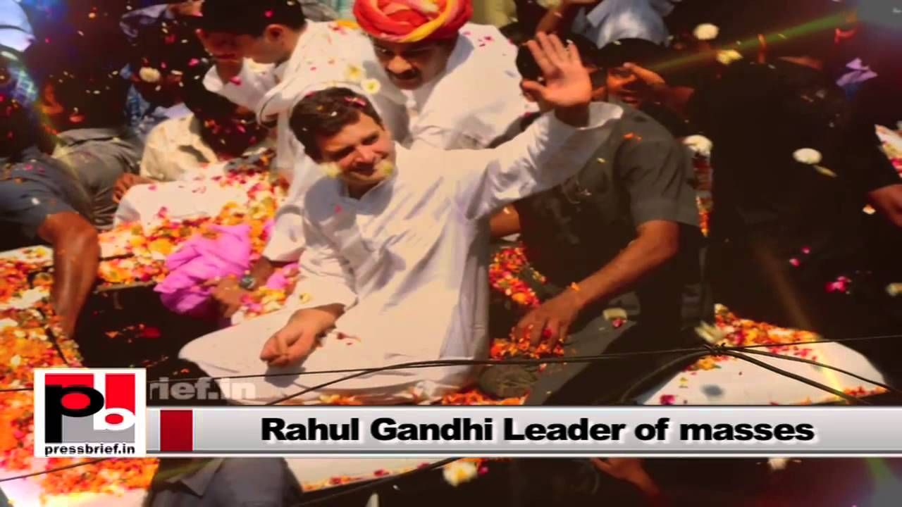 "Rahul Gandhi, the Congress Vice President, is a strong leader who shows his courage to lead the party from the front. During the last Lok Sabha polls campaign too, he had led the Congress campaign though the party suffered set back. He always said ""my aim is not to win polls, but to serve the people and to fight for their rights'."
