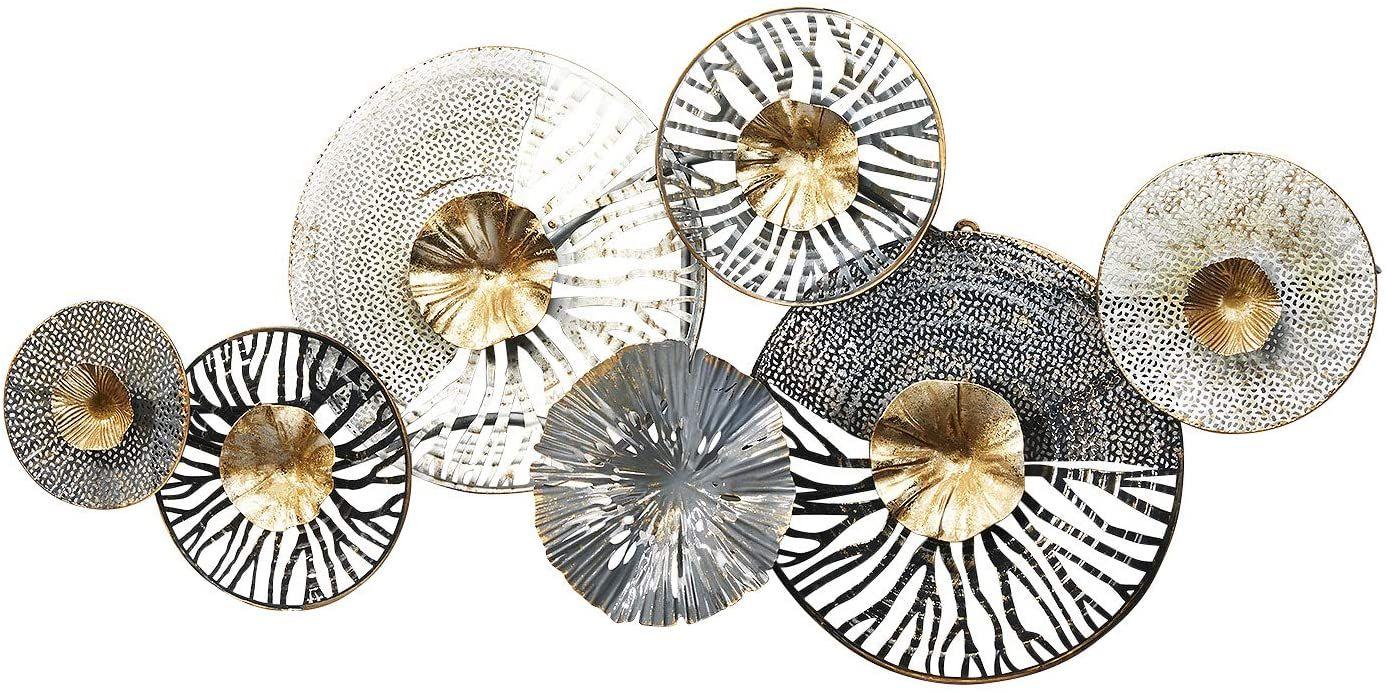 amazon de kobolo wandbild metallbild 3d bild roots metall anthrazit silber gold ca 105x50 cm wandbilder bilder maison du monde wanddeko tierkopf kinderzimmer