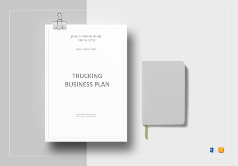 Trucking business plan template business planning commercial trucking business plan template accmission Image collections