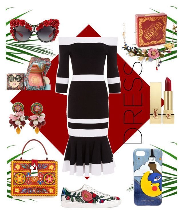 """Zola"" by vaniloqunce on Polyvore featuring Marc Jacobs, Dolce&Gabbana, Jonathan Simkhai, Gucci, Benefit, Les Néréides and Yves Saint Laurent"