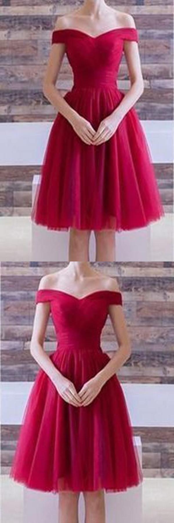 Luxurious prom dresses short burgundy prom dresses in