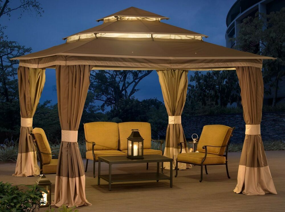 Steel Gazebo Large Tiered Vented Roof 12x12 Big Outdoor Garden Curtains Canopy Steelgazebo Patio Gazebo Steel Gazebo Patio Tents