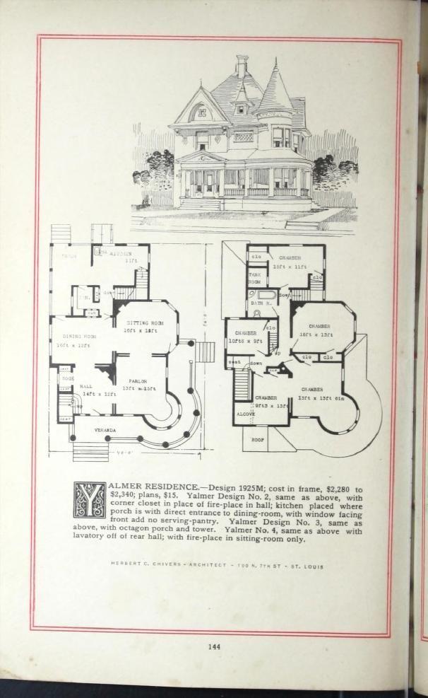 Artistic City Houses No 43 Victorian House Plans House Plans Vintage House Plans