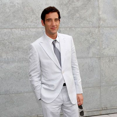 men white suit - maybe a teal tie would be really cool with this ...