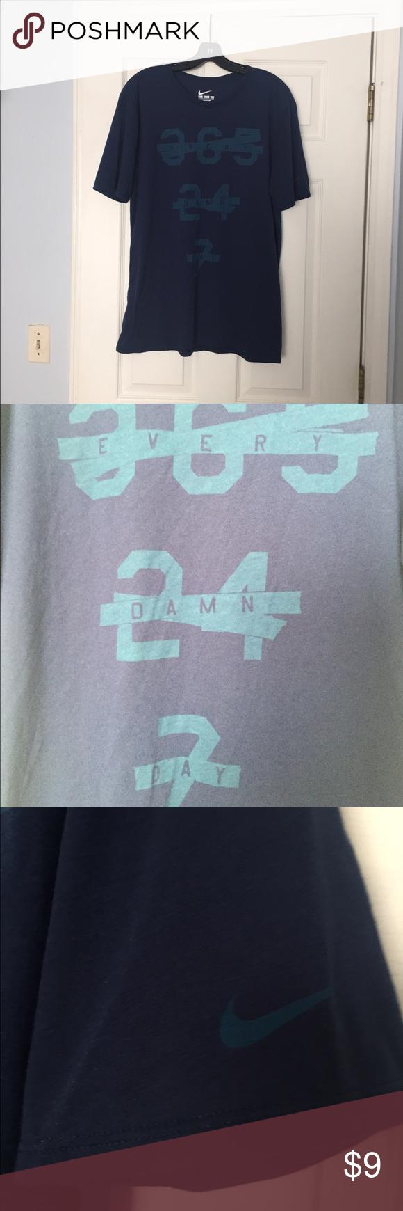 Nike Men's Shirt Dri- Fit 75% Polyester 13% Cotton 12% Rayon Nike Shirts Tees - Short Sleeve